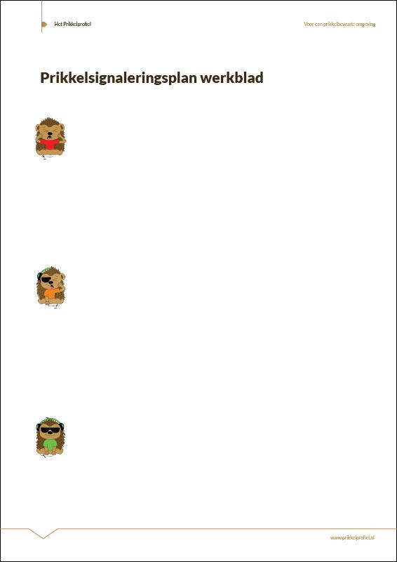 Prikkelsignaleringsplan-werkblad